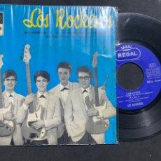 Discos de vinilo: SINGLE EP LOS ROCKEROS EN FORMA Y OTRO DE BRUNO LOMAS DE REGALO. Lote 211846771