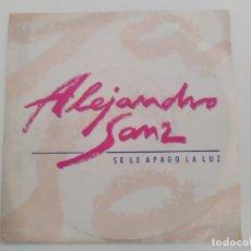 Discos de vinilo: ALEJANDRO SANZ – SE LE APAGO LA LUZ. Lote 211866217