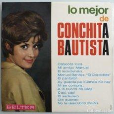 Discos de vinilo: LO MEJOR DE CONCHITA BAUTISTA (LP BELTER 1973) COMO NUEVO. Lote 211868603