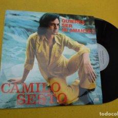Discos de vinilo: LP CAMILO SESTO – QUIERES SER MI AMANTE? - PORTUGAL - 1974 - VINILO - EX+/EX+ Ç. Lote 211873182