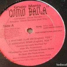 Discos de vinilo: GRUPO MANÍA - COMO BAILA - 1999. Lote 211888867
