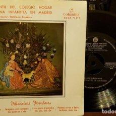 Discos de vinilo: CORO INFANTIL DEL COLEGIO HOGAR - VILLANCICOS POPULARES. Lote 211899263