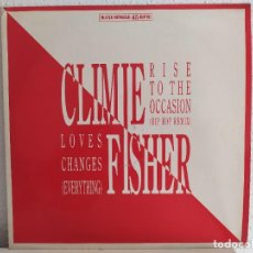 Discos de vinilo: CLIMIE FISHER – RISE TO THE OCCASION. Lote 211903930