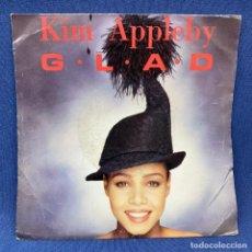 Discos de vinilo: SINGLE KIM APPLEBY- G.L.A.D. - EMI - AÑO 1991. Lote 211904880