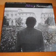 Discos de vinilo: LP SILVIO Y SACRAMENTO. FANTASÍA OCCIDENTAL. EDICIONES SENADOR, 1988.. Lote 211905802