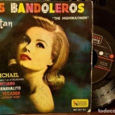 Discos de vinilo: LOS BANDOLEROS CANTAN - THE HIGHWAYMEN. Lote 211905890