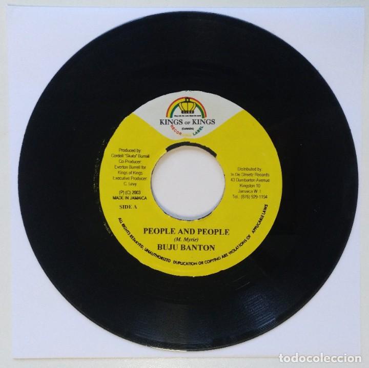 "BUJU BANTON - PEOPLE AND PEOPLE / PICKNEY - MASH MY HE [REGGAE / DANCEHALL ORIGINAL] 7"" 45RPM [2003] (Música - Discos - Singles Vinilo - Reggae - Ska)"