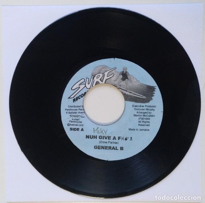 """GENERAL B - NUH GIVE A FUCK [REGGAE / DANCEHALL ORIGINAL] 7"""" 45RPM [1999] (Música - Discos - Singles Vinilo - Reggae - Ska)"""