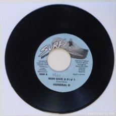 "Discos de vinilo: GENERAL B - NUH GIVE A FUCK [REGGAE / DANCEHALL ORIGINAL] 7"" 45RPM [1999]. Lote 211927732"