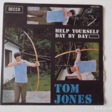 Discos de vinilo: TOM JONES - HELP YOURSELF / DAY BY DAY. Lote 211927948