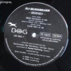 Discos de vinilo: DJ QUICKSILVER – BOING! 1996 - UNDERDOG RECORDS. Lote 211938628
