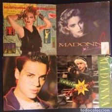 Discos de vinilo: MADONNA: LOTE 4 SINGLES DE VINILO DE 7 PULGADAS. DISCOS. Lote 211948407