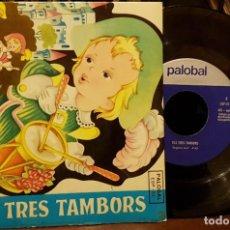 Discos de vinilo: ELS TRES TAMBORS. Lote 211952475