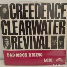 Discos de vinilo: CREEDENCE CLEARWATER-REVIVAL-/BAD MOON RISING/LODI/SINGLE 1969 AMERICA RECORDS,ESPAÑA.. Lote 211965951
