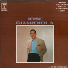Discos de vinilo: JOSE GUARDIOLA . DECISEIS TONELADAS - SERIE GIGANTES DE LA CANCION VOL 17 - LP EMI ODEON - RF-8129. Lote 211975280