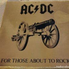Discos de vinilo: AC/DC - FOR THOSE ABOUT TO ROCK 1981 - GERMANY LP ATLANTIC. Lote 211975980