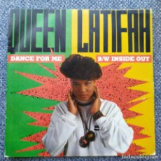 Discos de vinilo: SINGLE QUEEN LATIFAH ?– DANCE FOR ME / INSIDE OUT. Lote 211990462