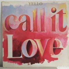 Discos de vinilo: YELLO – CALL IT LOVE. Lote 211997848