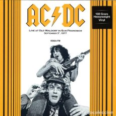 Discos de vinilo: AC/DC ?– LIVE AT OLD WALDORF IN SAN FRANCISCO SEPTEMBER 3, 1977. KSGA-FM -LP-. Lote 212001513