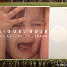 Discos de vinilo: MIGUEL BOSE - LOS CHICOS NO LLORAN / 12' MADE IN SPAIN 1990. NM-NM. Lote 212002768