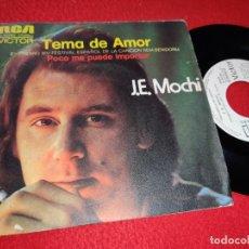 Discos de vinilo: J.E.MOCHI TEMA DE AMOR/POCO ME PUEDE IMPORTAR 7'' SINGLE 1972 RCA PROMO. Lote 212014115