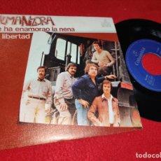 Discos de vinilo: ALMANZORA SE HA ENAMORAO LA NENA/MI LIBERTAD 7'' SINGLE 1981 COLUMBIA JUKEBOX. Lote 212018135