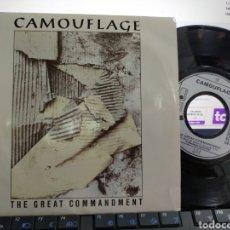 Discos de vinilo: CAMOUFLAGE SINGLE THE GREAT COMMANDMENT ALEMANIA 1987. Lote 212019212