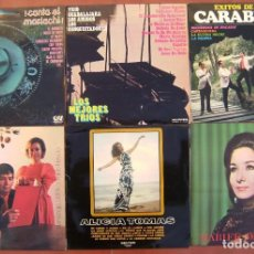 Discos de vinilo: LOTE 6 LPS (NERUDA, 20 POEMAS DE AMOR, ALICIA TOMAS MARIFE TRIANA, CARABELAS,TRIO GUADALAJARA,MARICH. Lote 212021851