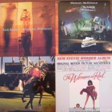 Discos de vinilo: LOTE 4 LP (NICK KAMEN / SREVIE WONDER / MICHAEL MCDONALD / PAUL ROBERTS). Lote 212023981