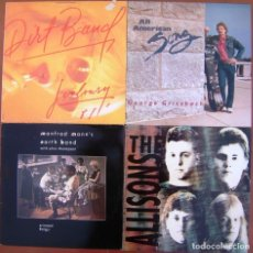 Discos de vinilo: LOTE 4 LP ( DIRT BAND - GEORGE GRITZBACH - THE ALLISONS - MANFRED MANN'S EARTH BAND). Lote 212024561