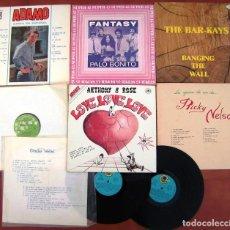 Discos de vinilo: LOTE 8 LP (ADAMO, ORNELLA VANONI, FANTASY, THE BAR KAYS, ELVIS PRESLEY, RICK NELSON, ANTHONY & ROSE). Lote 212025338