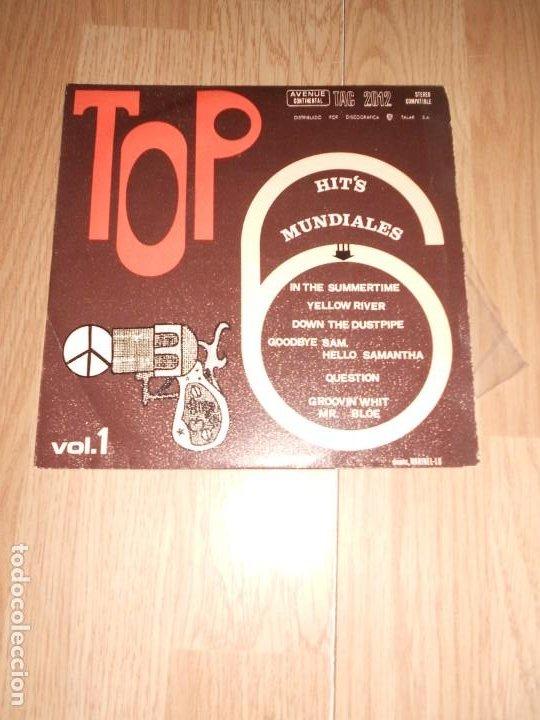 TOP 6 HITS MUNDIALES VOL. 1 - TALAR 1970 (Música - Discos de Vinilo - EPs - Pop - Rock Extranjero de los 70)