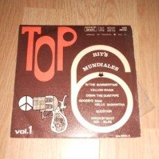 Discos de vinilo: TOP 6 HITS MUNDIALES VOL. 1 - TALAR 1970. Lote 212033047