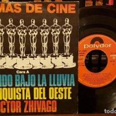 Discos de vinilo: 6 TEMAS DE CINE - CANTANDO BAJO LA LLUVIA, LA CONQUISTA DEL OESTE, DOR. ZHIVAGO. Lote 212056460