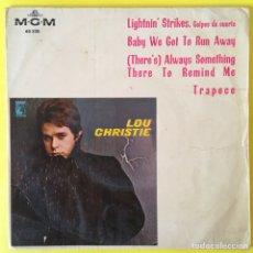 Discos de vinilo: LOU CHRISTIE LIGHTNIN STRIKES EP EDIC ESPAÑA MGM AÑO 1966. Lote 212060983