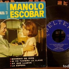 Discos de vinilo: MANOLO ESCOBAR - BANDA SONORA DE LA PELICULA MI CANCION ES PARA TI. Lote 212062827