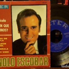 Discos de vinilo: MANOLO ESCOBAR - DE LA PELICULA ¿ EN QUE PAIS VIVIMOS ?. Lote 212070561