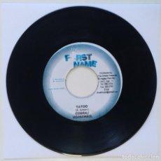 "Discos de vinilo: COBRA & VOISEMAIL - TATOO [REGGAE / DANCEHALL ORIGINAL] 7"" 45RPM [2003]. Lote 212111433"