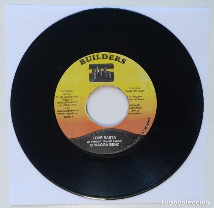"""SPRAGGA BENZ - LOVE RASTA / SUGAR SLICK - ANYTHING YOU [REGGAE / DANCEHALL ORIGINAL] 7"""" 45RPM [2003] (Música - Discos - Singles Vinilo - Reggae - Ska)"""