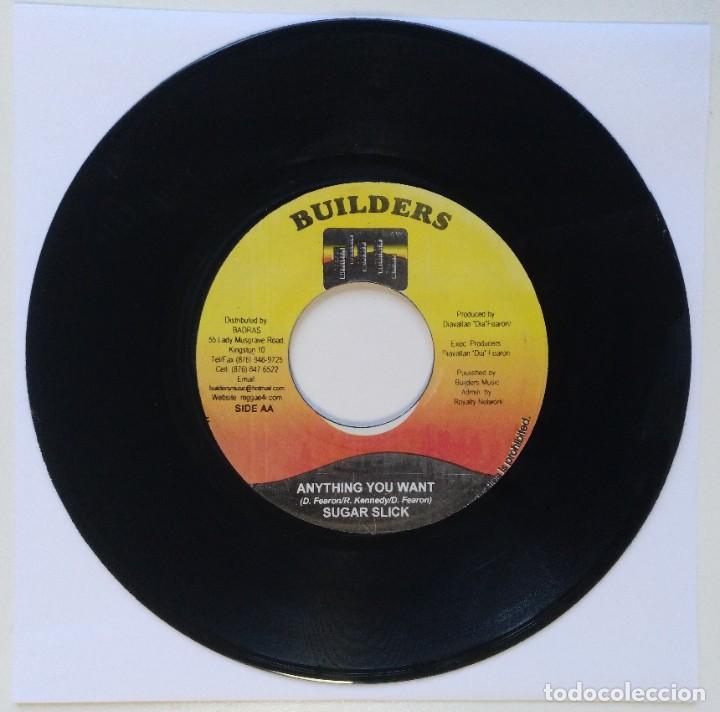 """Discos de vinilo: SPRAGGA BENZ - LOVE RASTA / SUGAR SLICK - ANYTHING YOU [REGGAE / DANCEHALL ORIGINAL] 7"""" 45RPM [2003] - Foto 2 - 212112252"""