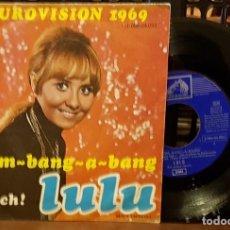 Discos de vinilo: EUROVISION 1969 - BOOM-BANG-A BANG - LULU. Lote 212112965