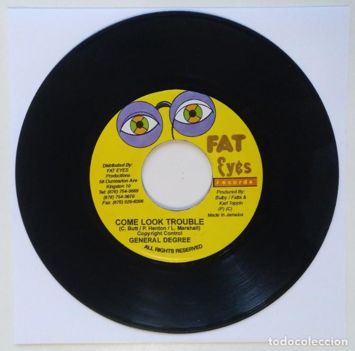 "GENERAL DEGREE - COME LOOK TROUBLE / POWER MAN [REGGAE / DANCEHALL ORIGINAL VINYL] 7"" 45RPM [2002] (Música - Discos - Singles Vinilo - Reggae - Ska)"
