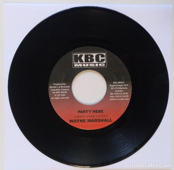 "WAYNE MARSHALL - PARTY HERE / [REGGAE / DANCEHALL ORIGINAL] 7"" 45RPM [2002] (Música - Discos - Singles Vinilo - Reggae - Ska)"