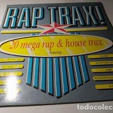 Discos de vinilo: LP - VARIOUS ?– RAP TRAX! - SMR 859 - CARPETA (VG+ / VG+) UK 1988. Lote 212119977