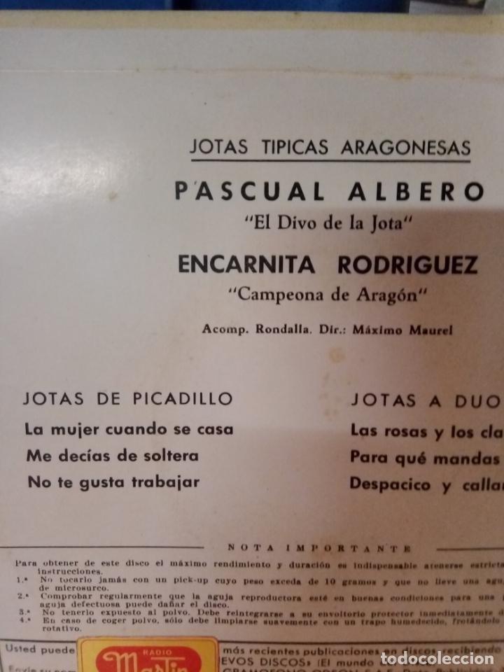 Discos de vinilo: Notas típicas aragonesas disco de 4 canciones - Foto 2 - 212125273