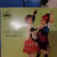 Discos de vinilo: NOTAS TÍPICAS ARAGONESAS DISCO DE 4 CANCIONES. Lote 212125273