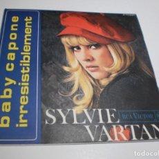 Discos de vinilo: SINGLE SYLVIE VARTAN. BABY CAPONE. IRRESISTIBLEMENT. RCA 1968 SPAIN (PROBADO, BIEN, SEMINUEVO). Lote 212127437
