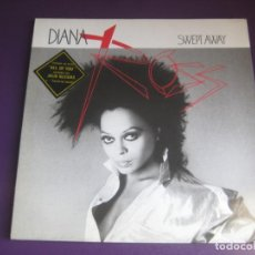 Disques de vinyle: DIANA ROSS – SWEPT AWAY LP CAPITOL 1984 - ELECTRONICA DISCO FUNK SOUL POP 80'S - SIN USO. Lote 212144940