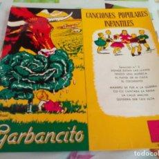 Discos de vinilo: SG. GARBANCITO - CANCIONES POPULARES INFANTILES. Lote 212155893
