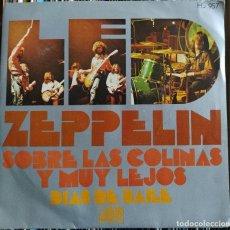 """Discos de vinilo: LED ZEPPELIN - SOBRE LAS COLINAS Y MUY LEJOS (ATLANTIC HS 957) (7"""") (D:NM). Lote 212158560"""
